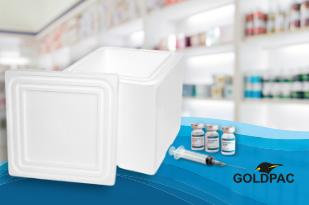 Caixa de isopor para transporte de medicamentos